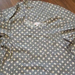 Lularoe Carly Dress Size M - Cream & Grey